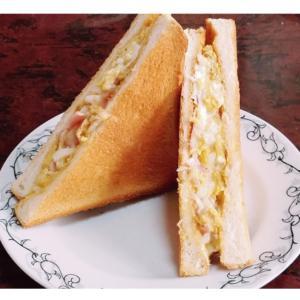 ハムとチーズの玉子サンド
