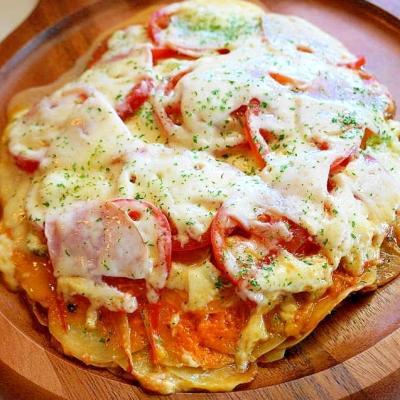 どんどん重ねて焼こう♪フライパンでピザ