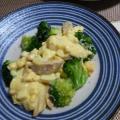 魚肉ソーセージとブロッコリーと卵のサラダ