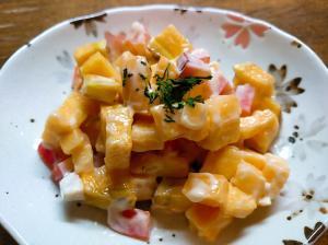 薩摩芋とパプリカのサラダ