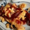 朝食やお弁当に!ベーコンのスクランブルエッグ