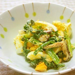 ほうれん草・椎茸・ゆで卵のマヨサラダ♪