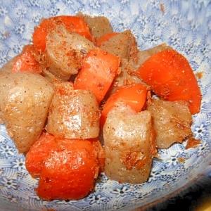 箸休め小鉢 コンニャクと人参のめんつゆ炒り煮