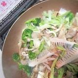 豚肉ブロッコリー筍味噌焼き