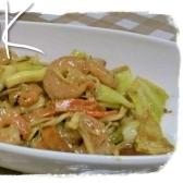 エビと野菜のオイスターマヨ炒め