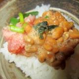 胡麻納豆葱トロ丼