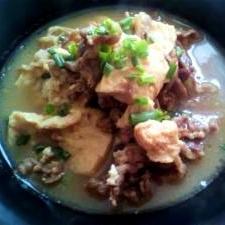 牛肉と豆腐のしょうが煮