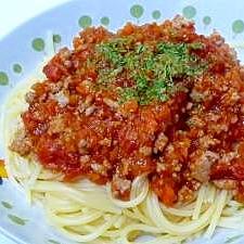 とにかく簡単定番☆ミートスパゲティ