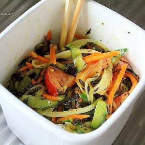 ひじきと野菜のカレーマリネ