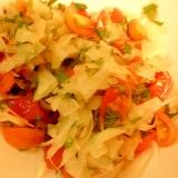 大根&トマト&シソの梅風味サラダ