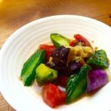 夏野菜の辛子漬け*茄子・きゅうり・トマト