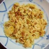 べったら漬け&納豆&青海苔の炒り卵