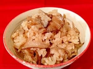 ごぼうと舞茸の炊き込み御飯