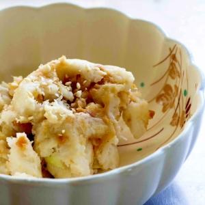 レンチン de 里芋の甘味噌和え