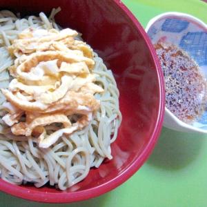 冷やし茶そば with 薄焼き卵の錦糸