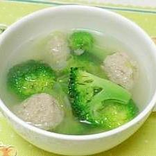 肉団子とブロッコリーの中華スープ