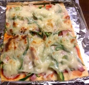 糖質制限  高野豆腐でめちゃウマ ピザ‼️