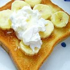バナナと自家製クリームチーズで簡単 おやつトースト