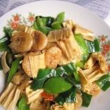 中国湯葉と小エビの炒め物(海米炒腐竹)