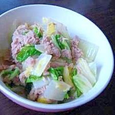 ツナと白菜 簡単煮るだけ