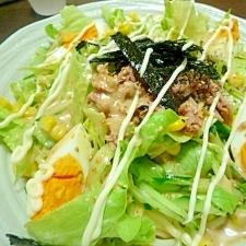 千切り野菜のサラダうどん