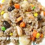 黒豆幻米でプリップリのエビチャ-ハン