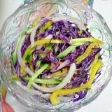 紫キャベツとパプリカのサラダ~♫