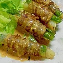 アスパラとポテトの肉巻き焼肉マヨソース
