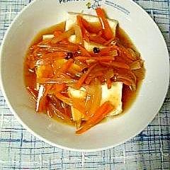 ぴり辛さっぱり☆豆腐の南蛮あんかけ☆