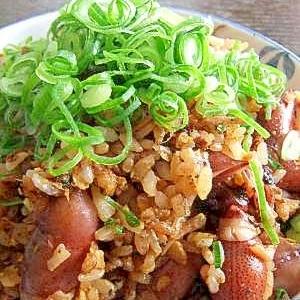 今が旬★ホタルイカのピリ辛炒飯