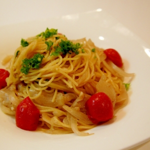 イタリアンな風味漂う♪アンチョビパスタ