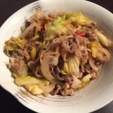 豚肉の野菜炒め。