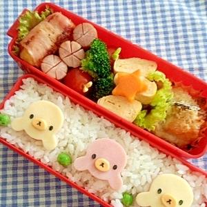 簡単キャラ弁☆あざらしくんのお弁当♪