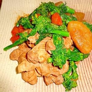 旬☆菜花とヒレ肉の味噌煮