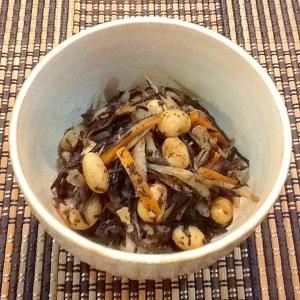 ささがきごぼうと大豆のひじき煮
