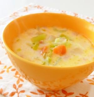 セロリのミルクスープ