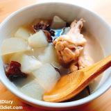 冬瓜と手羽元ときくらげのスープ