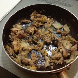 白菜の切り漬けで漬物ステーキ