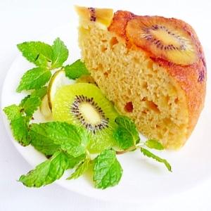 炊飯器&ホットケーキミックスで キウイ豆乳ケーキ