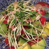 ミニトマトとアボカドの簡単サラダ