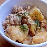 翌朝お弁当に❤若鶏むね挽き肉&じゃが芋の煮物♪