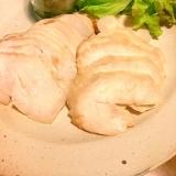 簡単に蒸し鶏☆手作りバジルソース