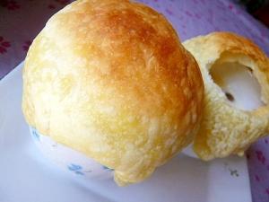 市販活用☆シメジのクリームスープのパイ包み