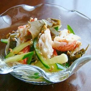 胡瓜と蟹の酢の物