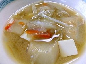 食物繊維いっぱいの、香りの良いごぼう入りお味噌汁♪