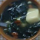 クコの実と豆腐のわかめスープ