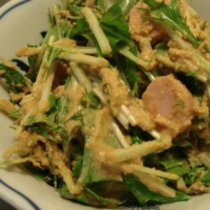 水菜とギョニソの白和え風