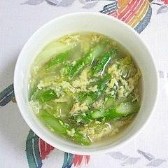 アスパラとレタスのスープ