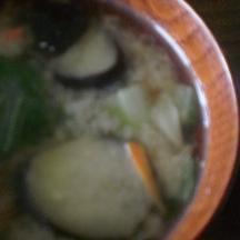茄子と人参の炒め味噌汁