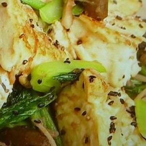 小松菜ときのこのチャンプルー♪